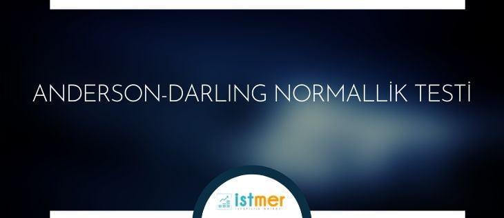 anderson-darling normallik test