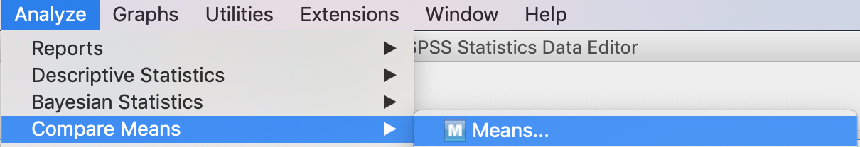 spss compare means